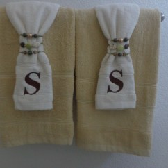 Monogrammed Kitchen Towels Lights For Over Sink Gussied Up Bath And Embroidered ...