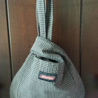 Japanese Knot Bag Upcycled From A Men's Shirt