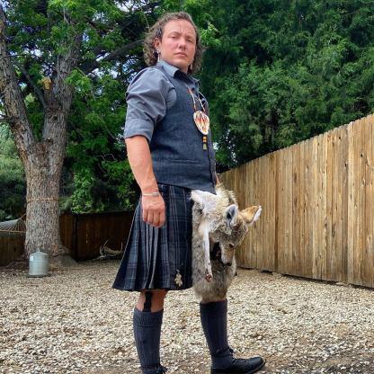 Coyote sporran full mask taxidermy kilt celtic acc