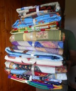 tower of quilts