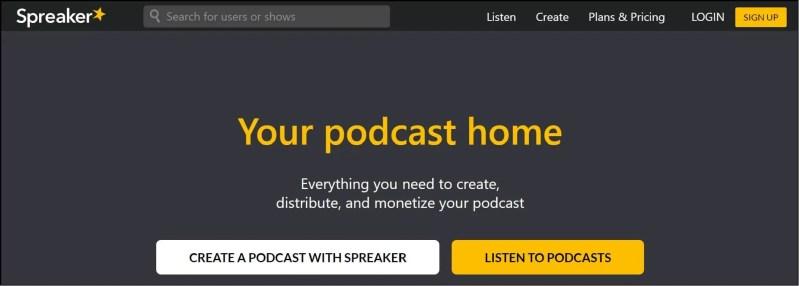 Spreaker Podcast Hosting