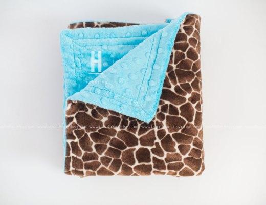 Giraffe MInky Blanket