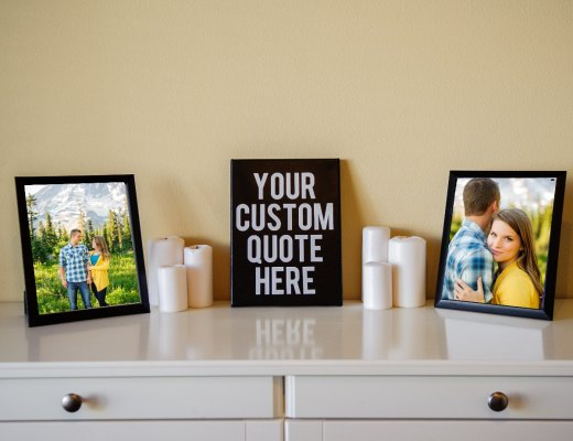 canvas wall art - customizable sign