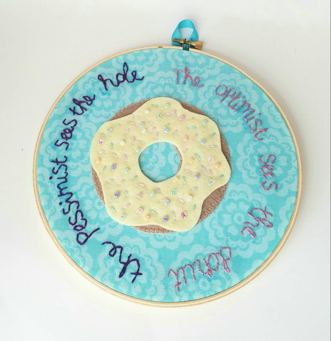 donut hoop with oscar wilde quote