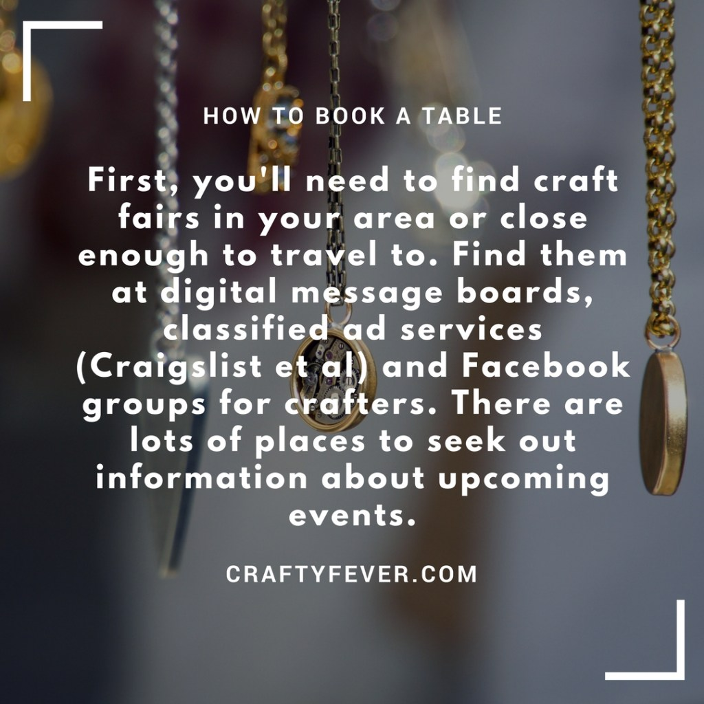 Book a table at Craft Fair