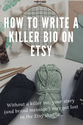Write killer bio for your etsy store