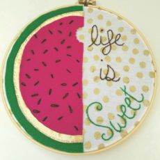 Watermelon | embroidery hoop art