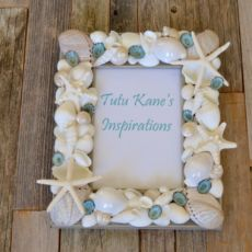 Seashell Frame, Beach Decor