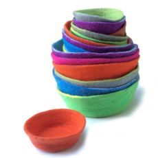 Hand Felted bowls
