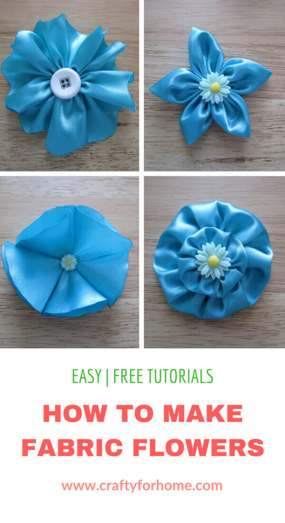 How To Make Flowers Out Of Fabric : flowers, fabric, Fabric, Flowers, Crafty
