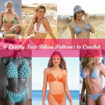 6 Lovely Free Bikini Patterns to Crochet this Summer