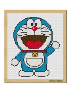 doraemon free cross stitch pattern-01