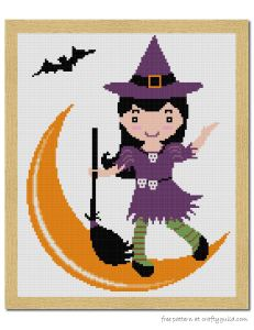 halloween witch free cross stitch pattern-01