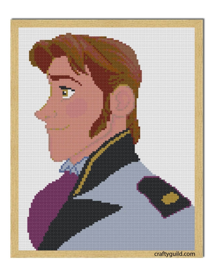 prince hans free cross stitch pattern