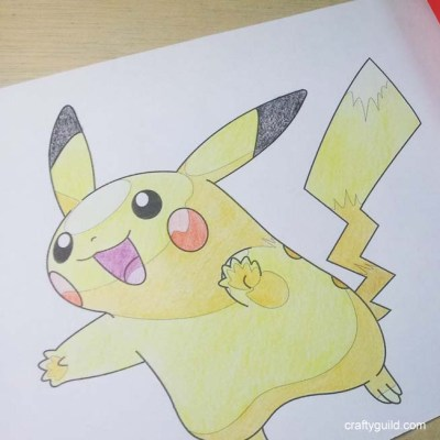 Pikachu – Free Coloring Page from Crafty Guild