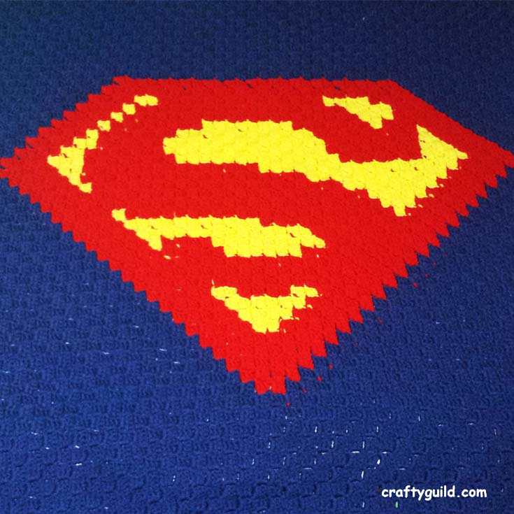 Superman Blanket - Free Crochet Pattern