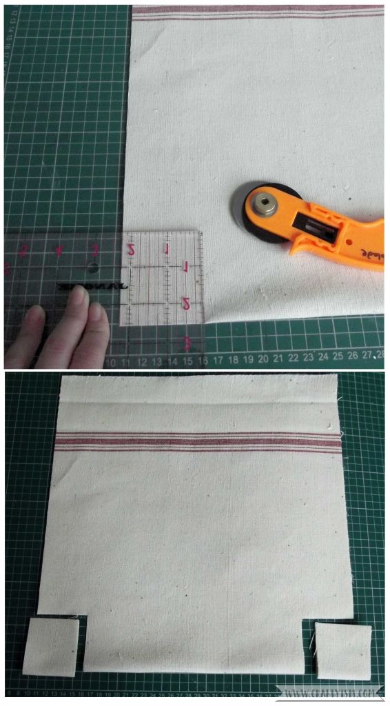 Step 3 Tea towel shoping bag