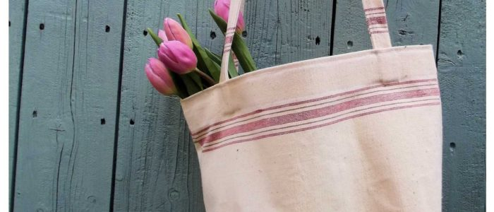 Tea towel shoping bag