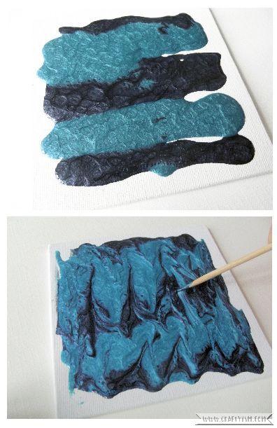Review Pebeo Fantasy Moon paint blue canvas