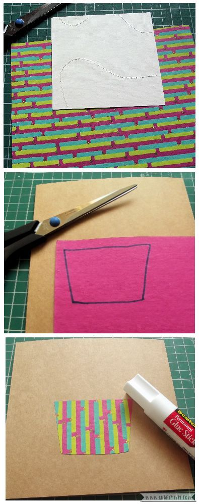 How-to Cupcake Birthday Card Step 1