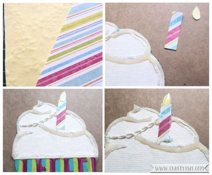 How-to Cupcake Birthday Card Step 5
