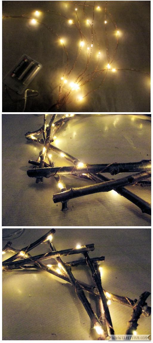 How to - Fairy Light Twig Star Wreath Step 5