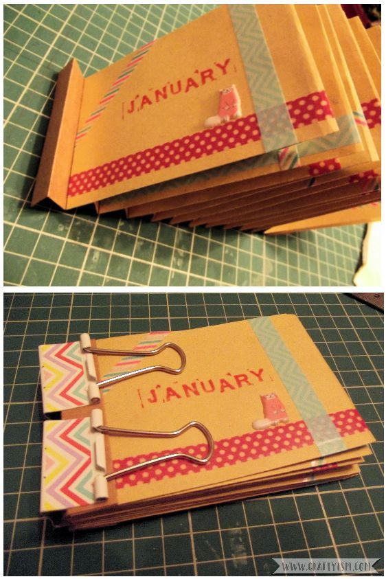 How to Make Easy Yearly Journal glue envelopes 2
