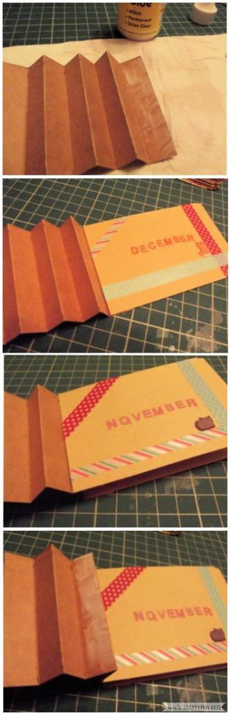 How to Make Easy Yearly Journal glue envelopes