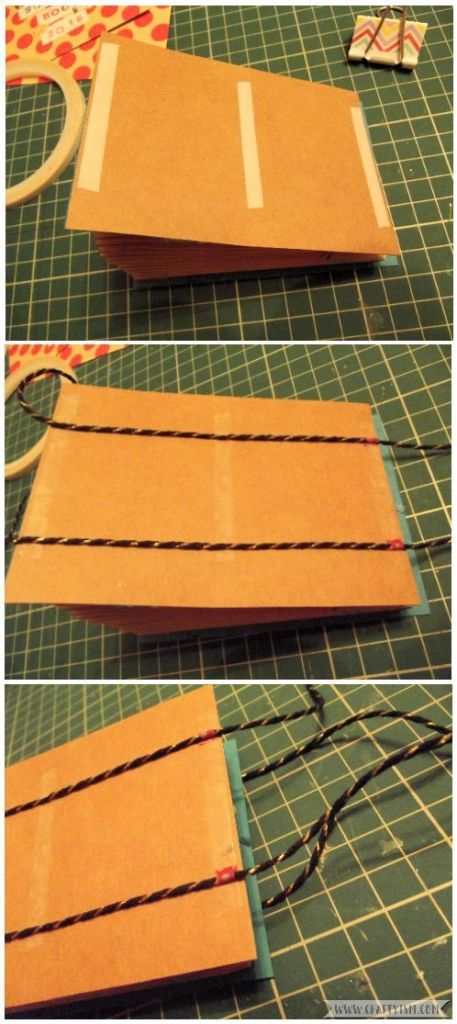 How to Make Easy Yearly Journal glue fastening
