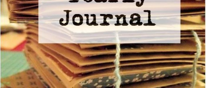 How to Make Easy Yearly Journal title