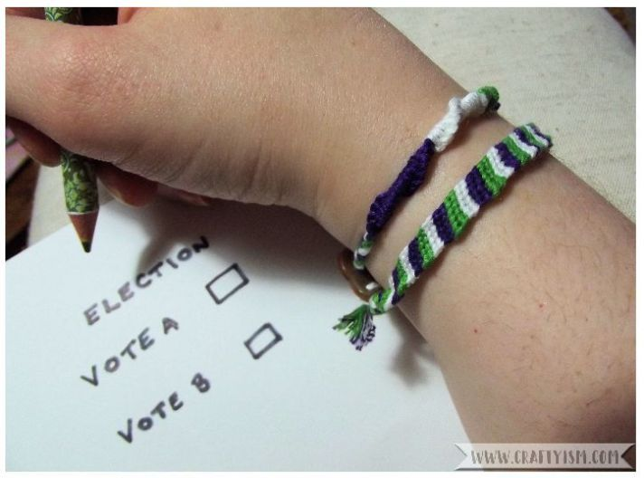 How to make - Suffragette Friendship Bracelets | finished