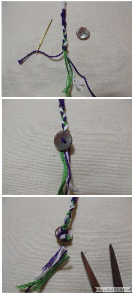 How to make - Suffragette Friendship Bracelets | Twisty bracelet button