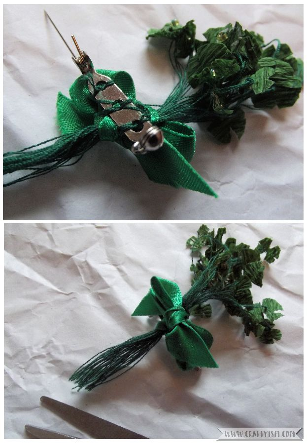 How to St. Patrick's Day Shamrock Brooch | Step 6