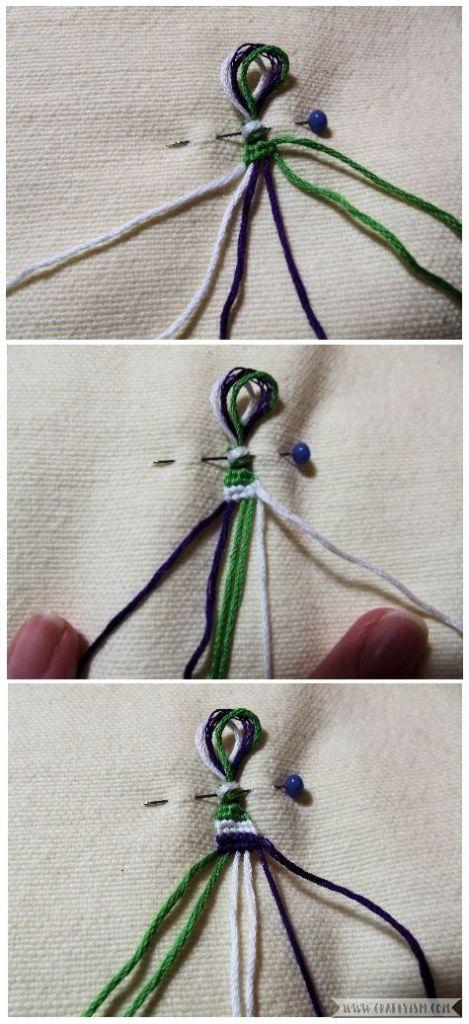 How to make - Suffragette Friendship Bracelets   Striped bracelet pattern