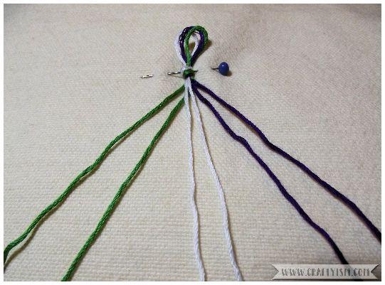 How to make - Suffragette Friendship Bracelets | Striped bracelet start