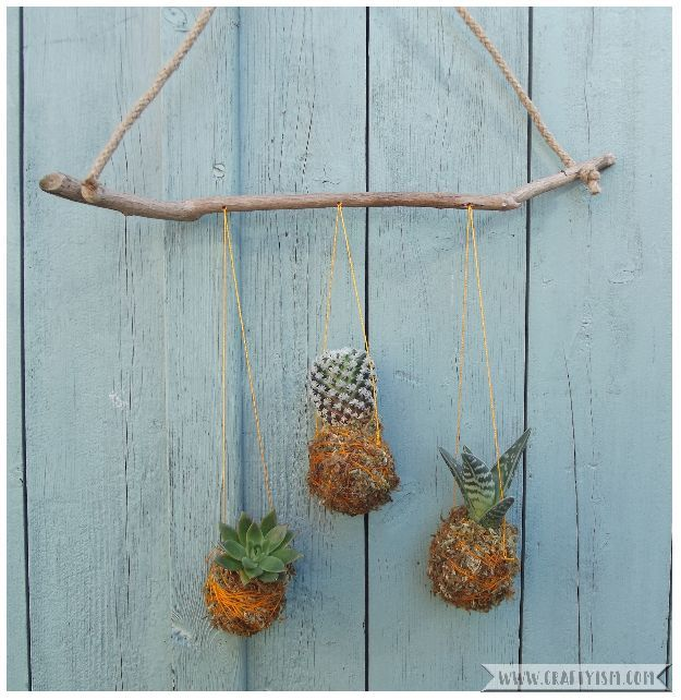 How to tutorial - Hanging Kokedama Mobile   finished