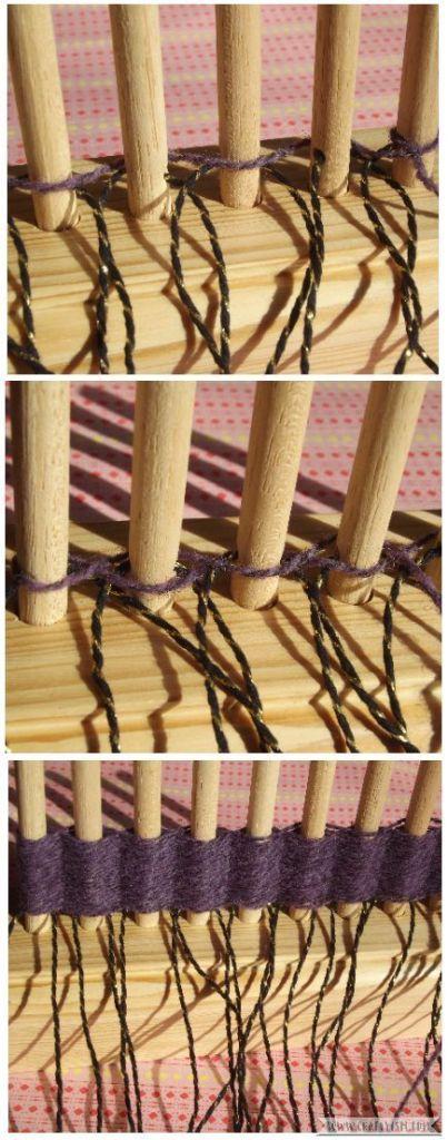 How to tutorial - Beginners Peg Loom   weaving