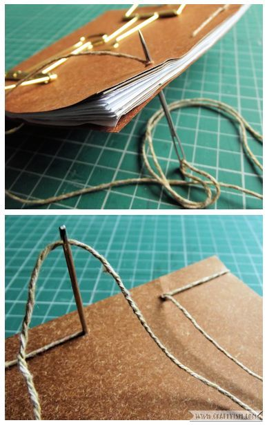 Craftyism - Upcycled Envelope Notebook | Sewing Binding 3