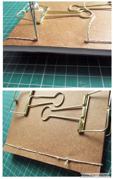 Craftyism - Upcycled Envelope Notebook | Sewing Binding 4