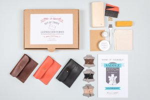 Etsy Holiday Gift Guide - Leather Coin Purse Kit By WilliamsHandmadeGB