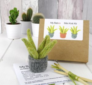 Etsy Holiday Gift Guide - Pet Plant Knitting Kit by mybaboo