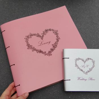 Craftyism - Valentine Gifts for Crafters | Personalised Love Heart Leather Scrapbook Artbox