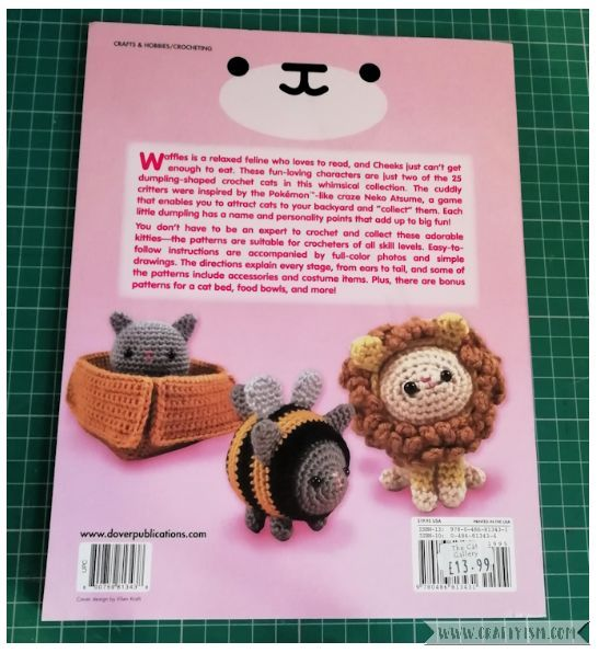 Craftyism Review - Dumpling Cats by Sarah Sloyer | back cover