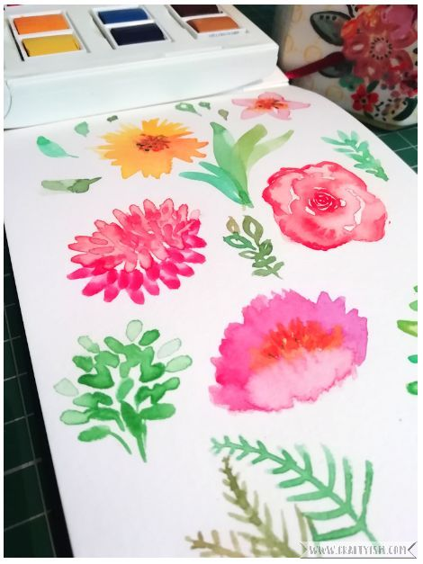 Craftyism book review - DIY Watercolor Flowers by Marie Boudon | tried and tested