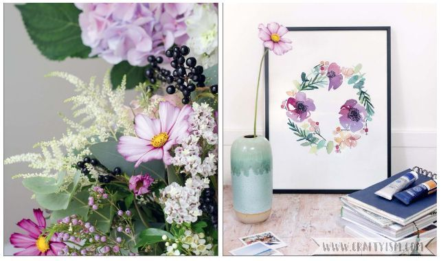 Craftyism book review - DIY Watercolor Flowers by Marie Boudon | composition
