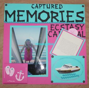 Captured Memories Scrapbook Title Page - For more info visit CraftyJBird.com