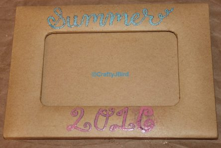 Summer 2016 Magnetic Frame -- Visit CraftyJBird.com for more info