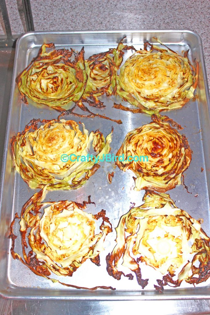 Making Cabbage Steak -- Visit CraftyJBird.com for more info...