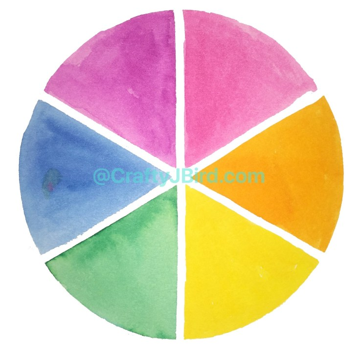 Making My Color Wheel -- Visit CraftyJBIrd.com for more info...