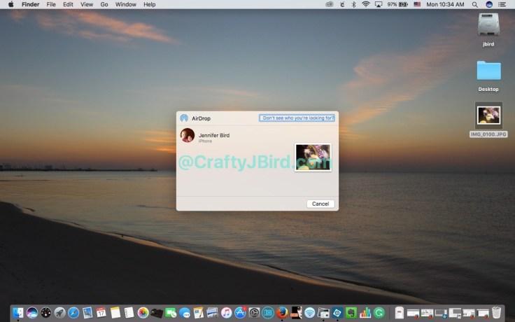 Apple AirDrop -- Visit CraftyJBird.com for more info....